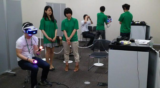 GTMF Osaka 2016でキャラデの学生がPSVRのデモをお手伝い